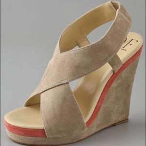 DVF suede wedge sandals